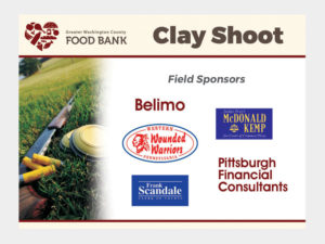 Clay Shoot signs.